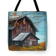 1980 Barn Tote Bag by Linda Simon
