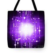 abstract circuit board lighting effect  Tote Bag by Setsiri Silapasuwanchai