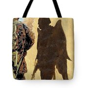 Angel Waiting Tote Bag by Todd Krasovetz