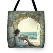 girl at the sea Tote Bag by Joana Kruse