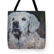 Golden Retriever Portrait Tote Bag by Lee Ann Shepard