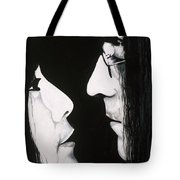 Lennon And Yoko Tote Bag by Ashley Price