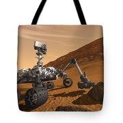 Mars Rover Curiosity, Artists Rendering Tote Bag by NASA/Science Source