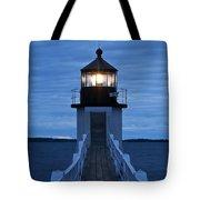 Marshall Point Light Tote Bag by John Greim