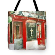 Old Pharmacy Tote Bag by Tomas Castano
