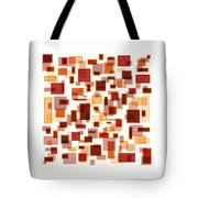 Red Abstract Rectangles Tote Bag by Frank Tschakert