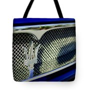 2002 Maserati Hood Ornament Tote Bag by Jill Reger