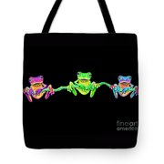 3 Little Frogs Tote Bag by Nick Gustafson