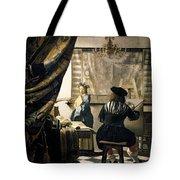 The Artist's Studio Tote Bag by Jan Vermeer