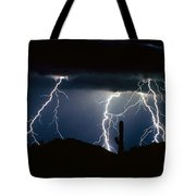 4 Lightning Bolts Fine Art Photography Print Tote Bag by James BO  Insogna