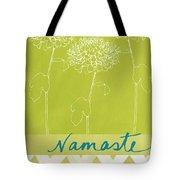 Namaste Tote Bag by Linda Woods