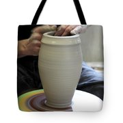 Pottery Wheel, Sequence Tote Bag by Ted Kinsman
