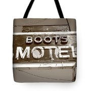 Route 66 - Boots Motel Tote Bag by Frank Romeo