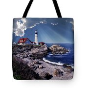 Portland Head Lighthouse Tote Bag by Skip Willits