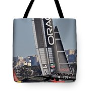 America's Cup San Francisco Tote Bag by Steven Lapkin