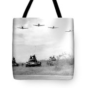 A-1h Aircraft Make A Low Level Pass Tote Bag by Stocktrek Images