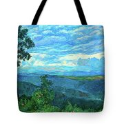 A Break In The Clouds Tote Bag by Kendall Kessler