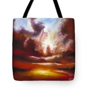 A Cosmic Storm - Genesis V Tote Bag by James Christopher Hill