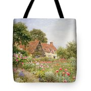 A Cottage Garden Tote Bag by Henry Sutton Palmer