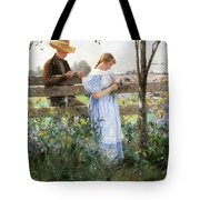 A Country Romance Tote Bag by David B Walkley