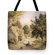 A Farmyard Near Princes Risborough Tote Bag by Samuel Palmer