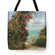 A Garden By The Sea  Tote Bag by Frank Topham