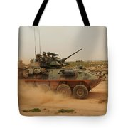 A Marine Corps Light Armored Vehicle Tote Bag by Stocktrek Images