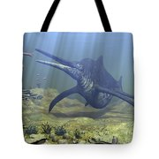 A Massive Shonisaurus Attempts To Make Tote Bag by Walter Myers