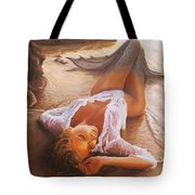 A Mermaid In The Sunset - Love Is Seduction Tote Bag by Marco Busoni