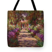 A Pathway in Monets Garden Giverny Tote Bag by Claude Monet