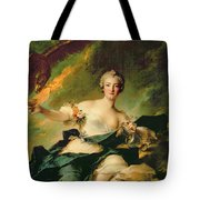 A Portrait Of Anne Josephe Bonnnier De La Mossau  Tote Bag by Jean Marc Nattier