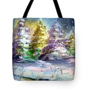 A Silent Night Tote Bag by Mindy Newman