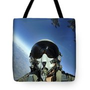 A Three-ship Formation Of F-15e Strike Tote Bag by Stocktrek Images