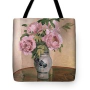 A Vase of Peonies Tote Bag by Camille Pissarro