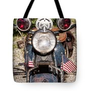 A Very Old Indian Harley-davidson Tote Bag by James BO  Insogna