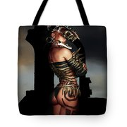 A Warrior Stands Alone Tote Bag by Alexander Butler