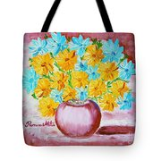 A Whole Bunch Of Daisies Tote Bag by Ramona Matei