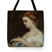 A Woman with Jewellery Tote Bag by Gustave Courbet