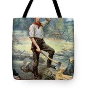 Abe Lincoln The Rail Splitter  Tote Bag by War Is Hell Store