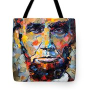 Abraham Lincoln Portrait Tote Bag by Debra Hurd