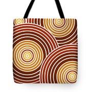 Abstract Circles Tote Bag by Frank Tschakert