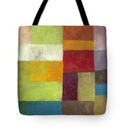 Abstract Color Study Lv Tote Bag by Michelle Calkins