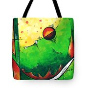 Abstract Pop Art Original Painting Tote Bag by Megan Duncanson