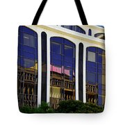 Abstract Reflections In Glass Tucson Arizona Tote Bag by Christine Till