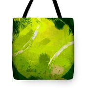 Abstract Tennis Ball Tote Bag by David G Paul
