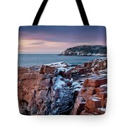 Acadian Cliffs Winter Sunrise 1 Tote Bag by Susan Cole Kelly