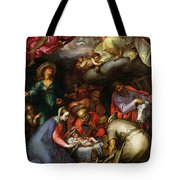 Adoration of the Shepherds Tote Bag by Abraham Bloemaert