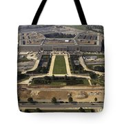 Aerial Photograph Of The Pentagon Tote Bag by Stocktrek Images