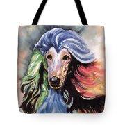 Afghan Storm Tote Bag by Kathleen Sepulveda