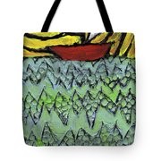 Afloat On The Bubbling Sea Tote Bag by Wayne Potrafka